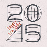 Shapes 2015 greeting card Stock Photography