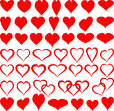Shapes of hearts Stock Photography