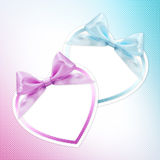 Shapes of hearts pink and blue Stock Photo