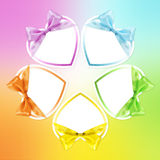 Shapes of hearts in various colors Royalty Free Stock Photography