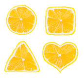 Shapes of lemon fruit Stock Photography