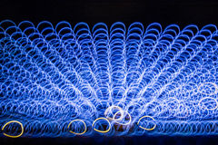 Shapes of light. On a light object of the Amsterdam Light Festival royalty free stock photo