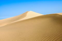 Shapes and lines. Desert Stock Image