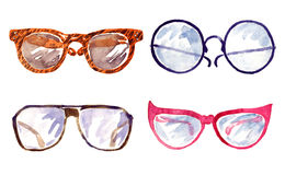 Shapes of male and female glasses Royalty Free Stock Images
