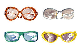 7d5a1b4b45b Shapes of male and female glasses. Isolated set hand painted watercolor illustration  stock illustration