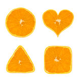 Shapes of orange fruit Stock Photography