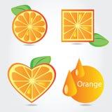 Shapes of orange fruit Stock Images