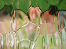 Shapes through patterned glass Royalty Free Stock Image