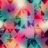 Shapes of rhombuses on blur background. Royalty Free Stock Photos