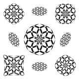 9 shapes in roseta style Royalty Free Stock Photography
