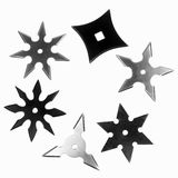 Shapes of shurikens Royalty Free Stock Image