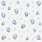 Shapes  with stars Print. Shapes  with stars blue and black Print Royalty Free Stock Photos