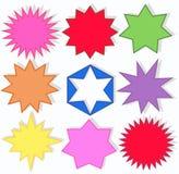 shapes stjärnan Royaltyfri Fotografi