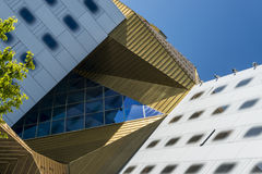 Shapes. Various shapes and colors forming a modern architectural building royalty free stock photo