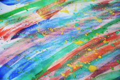 Shapes watercolor paint design and pattern Stock Image