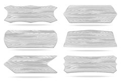 Shapes white wooden sign boards Stock Photo