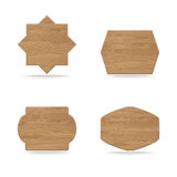 Shapes wooden sign boards Stock Photo
