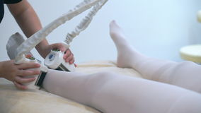 Shaping by using the latest beauty equipment to rejuvenate the body. SPA Laser therapy stock footage