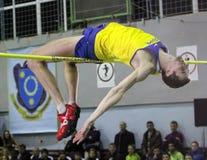 Shapoval Viktor on high jump Stock Photos