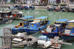 shapowei渔码头前张照片  库存图片