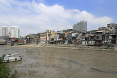 Shapowei haven after low tide Royalty Free Stock Photo