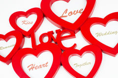 Shappes de coeur avec amour de label Photo stock