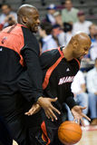 Shaquille O'Neal And Alonzo Mourning Royalty Free Stock Images