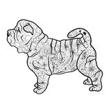 Shar Pei Dog Doodle Illustration Libre de Droits