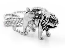 Shar-Pei Pendant - rostfritt stål Royaltyfri Foto