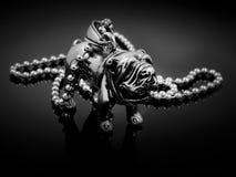 Shar-Pei Pendant - rostfritt stål Arkivfoto