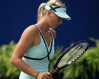 Free Sharapova - Defeated The Rogers Cup Finals Stock Photo - 10643860