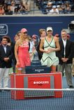 Sharapova and Dementieva Rogers Cup 2009 (2) Stock Photography