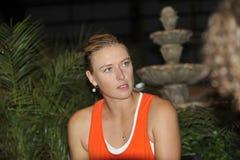 Sharapova Finalist Ind quillt 2012 (2) hervor Stockbild