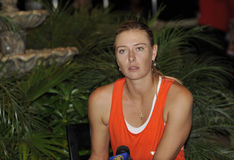 Sharapova finalist Ind Wells 2012 (1) Royalty Free Stock Photography