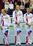 Sharapova, S. Kuznetsova, E. A. Myskina Royalty Free Stock Image