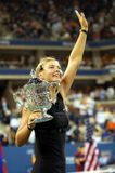 Sharapova with a trophy US Open 2006 Stock Photo