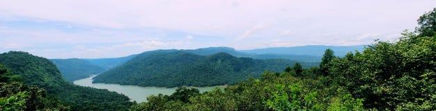 Sharavathi doliny punkt widzenia Zdjęcia Royalty Free