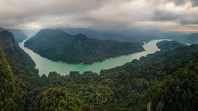Sharavati river and valley royalty free stock images