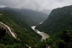 Sharavati River gushing from Jog Falls during monsoon. Karnataka State of India royalty free stock photos