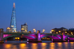 The Shard and Blackfriars Bridge royalty free stock photography