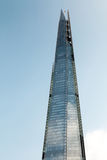 The Shard building. London, UK -- Mar 14, 2015: The Shard building in bright sky royalty free stock photos