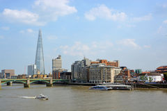 The Shard Building & Thames River, London Stock Image