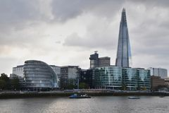 The Shard and City Hall London. Are part of modern architecture of London Royalty Free Stock Photography