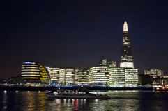 The Shard City Hall at night, London, UK royalty free stock photos