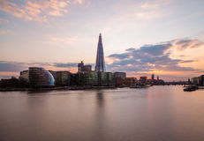 Shard, City Hall and Other buildings in London Stock Image