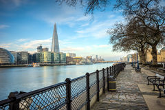 The Shard and city hall. Over the river Thames Stock Images