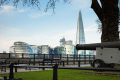 The Shard and city hall. Viewed from the Tower of London Royalty Free Stock Photos