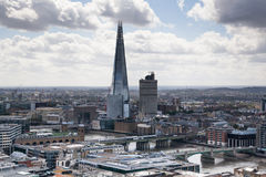Shard of glass. City of London panorama, view from st. Paul cathedral Stock Images