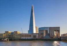 Shard of glass. City of London, south bank of river Thames Stock Photo