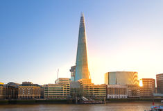 Shard of glass. City of London, south bank of river Thames Stock Photography